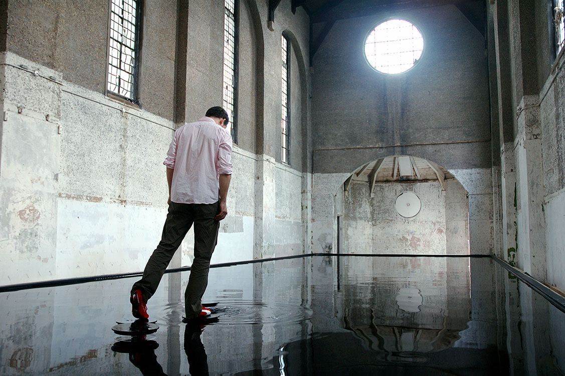 Bridge by Michael Cross, an installation which allows you to walk on water